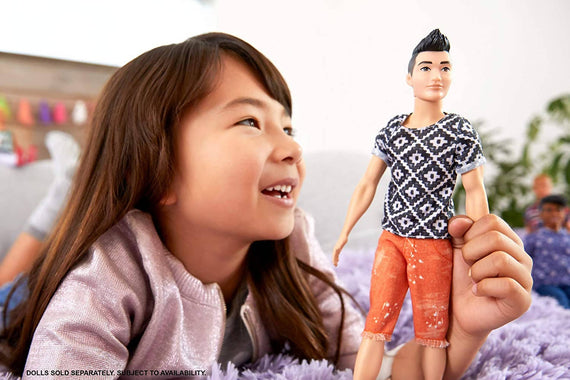 Barbie Ken Fashionista Doll (Boho Hip) - FXL62-JA10-19A