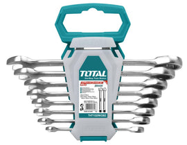 Total 8 Piece Ratchet Spanner Set An essential tool that is used to fasten or loosen nuts and bolts. - THT102RK086