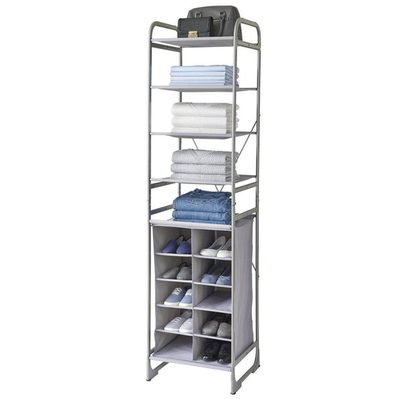 Neatfreak 10 Cubby and 4 Shelves A versatile modular storage tower from neatfreak that can be reconfigured, customized and combined with other Versa System units to suit your specific storage and organization needs and available space-15919