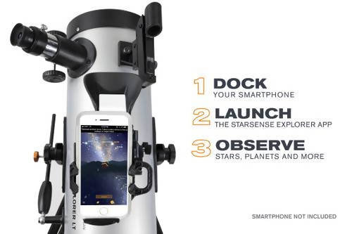 Celestoron Telescope 127mm Celestron has reinvented the manual telescope with StarSense Explorer the first telescope that uses your smartphone to analyze the night sky and calculate its position in real time -389393