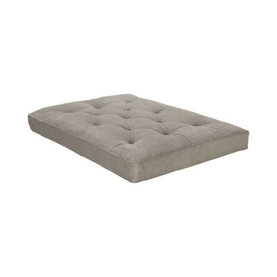 Button Tufted Luxury Futon Pad Grey - 2019GRY