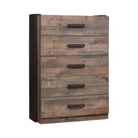 Weston 5-Drawer Chest Weathered Oak And Rustic Coffee - 206315