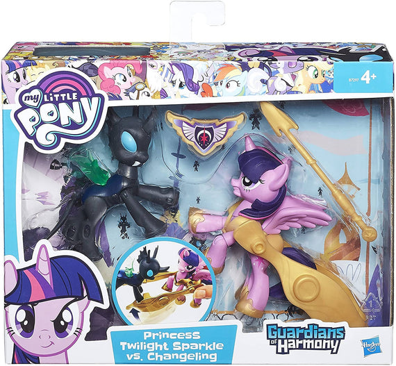 My Little Pony Guardians of Harmony Princess Twilight Sparkle V. Changeling Figures - PN00001403