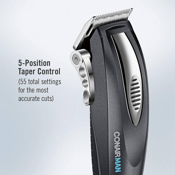 ConairMan Custom Cut 20-Piece Lithium Ion Cord/Cordless Haircut Kit - C - HC1100R