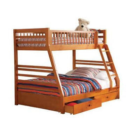 Ashton Twin Over Full 2-Drawer Bunk Bed Honey - 460183