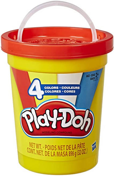 Play-Doh 2-Lb. Bulk Super Can with 4 Classic Colors - Red, Blue, Yellow, & White - 630509772988