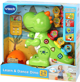 Vtech Learn & Dance Dino Green - Dino includes nine action plates that will customize Dino's voice, emotions and dancing styles - 80-518703