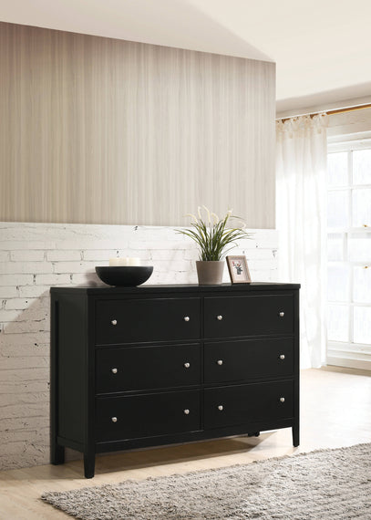 Carlton 6-Drawer Rectangular Dresser Black - 215863