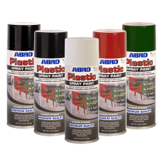 ABRO Plastic Spray Paint Green & Red Colours SPP049