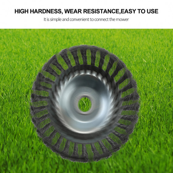 Weed Grass Steel Trimmer Blade Weed Cutter with Wired Round Edge, for Grass Cutting Machines - 2 Sizes -8 inch & 6 inch