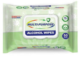 Germisept Multi-Purpose Alcohol Wipes 50 Units/ 393840 / GermiSept Multi-Purpose Alcohol Wipes – 50 Wipes. 24 PACKS/CTN.
