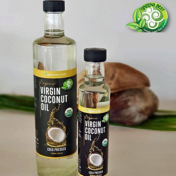 Greens Best Organic Virgin Coconut Oil Cold Press 750ml - 79030466793
