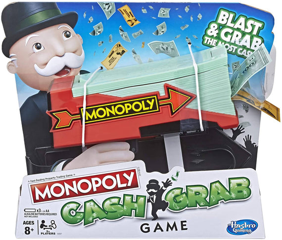 Monopoly Cash Grab Board Game Ideal for Family's night games- E3037
