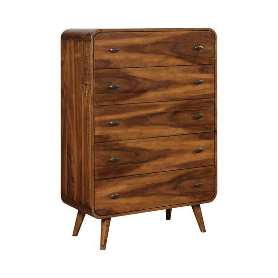 Robyn 5-Drawer Chest Dark Walnut - 205135