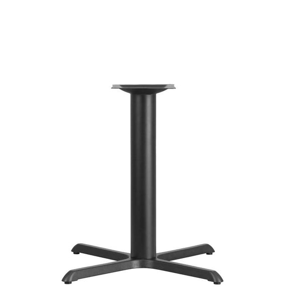33'' x 33'' Restaurant Table X-Base with 4'' Dia. Table Height Column [XU-T3333-GG]