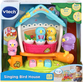 VTech Singing Bird House Baby Musical Toy - Discover three musical instruments, sounds, colours and numbers with the Singing Bird House 80-522403