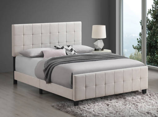 Fairfield Twin Upholstered Panel Bed Beige - 305952T
