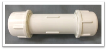 PVC Compression Coupling White
