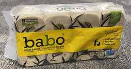 Babo Bathroom Tissue 24 count/200sheets Made from 100% bamboo pulp - 404121