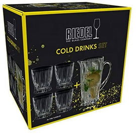 Riedel Cold Drinks Pitcher and Tumblers Set is ideal for prepared cocktails or soft drinks. The Collection is characterised by a dynamic, flame-like pattern and is lighter, finer and sturdier than other brands - 5515/23S1