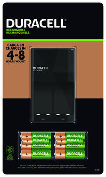 Duracell Recharge Set 6 (AA) + 2 (AAA) - The Duracell Ion Speed 1000 NiMH Battery Charger will recharge your batteries in 4-8 hours with 1000 mW of charging power - 996998