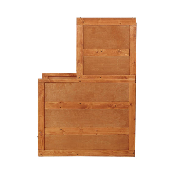 Wrangle Hill 4-Drawer Stairway Chest Amber Wash - 460098