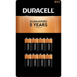 Duracell - CopperTop 9V Alkaline Batteries 8pk- Long Lasting, all-purpose 9 Volt battery for household and business-80283