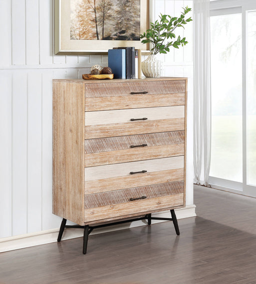 Marlow 5-Drawer Chest Rough Sawn Multi - 215765