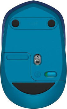 Logitech M535 Bluetooth Mouse Bluetooth Mouse – Compact Wireless Mouse with 10 Month Battery Life works with any Bluetooth Enabled Computer, Laptop or Tablet running Windows, Mac OS, Chrome or Android, Blue -409270