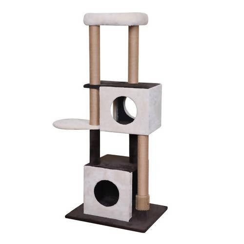 Catry Four-Level with Natural Sisal Scratching Posts, Teasing Toys, Scratching Cardboard / 411672