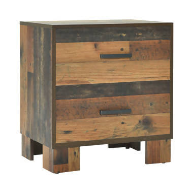 Sidney 2-Drawer Nightstand Rustic Pine - 223142
