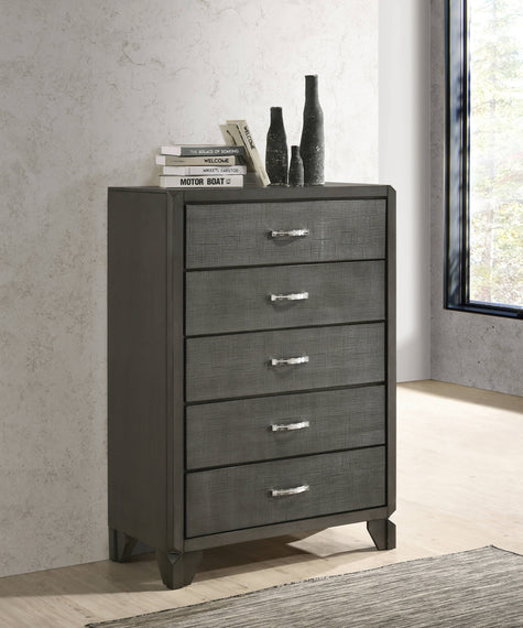 Noma 5-Drawer Chest Caviar - 215905
