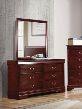 Louis Philippe 6-Drawer Dresser Cherry - 222413