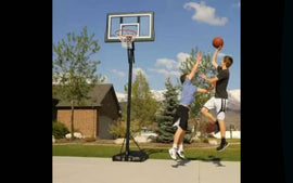 Lifetime Adjustable Portable 50-inch Basketball Hoop - Bring the arena to your home with a residential basketball system from Lifetime Products - 711569