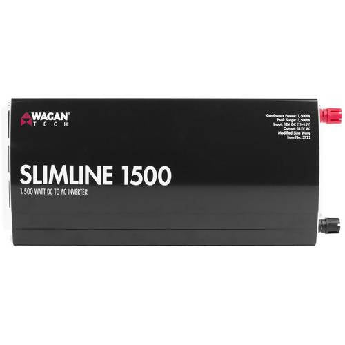 Wagan Slimline AC Inverter 1500 Watts - The AC Inverter 1500W is ideal for your high power needs - 200189