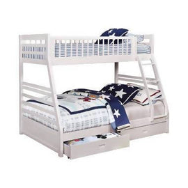 Ashton Twin Over Full 2-Drawer Bunk Bed White - 460180