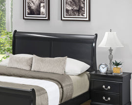Louis Philippe Full Sleigh Headboard Black - 212411FH