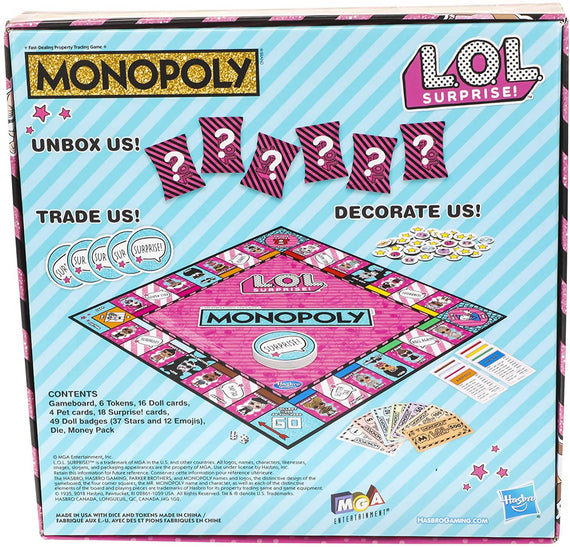 Monopoly Game: L.O.L. Surprise! Edition Board Game - E7572