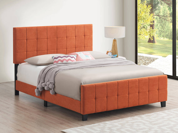 Fairfield Full Upholstered Panel Bed Orange - 305951F