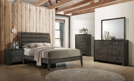 Serenity Queen Panel Bed Mod Grey - 215841Q