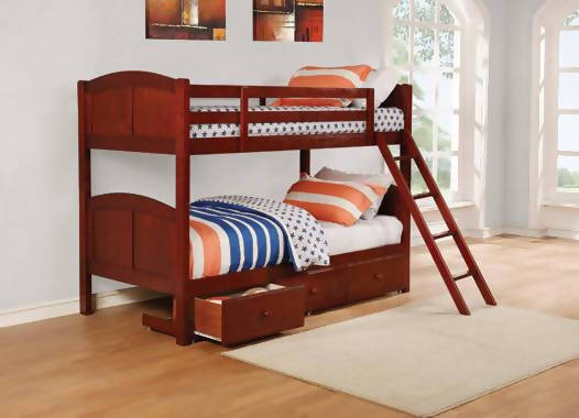 Parker Twin Over Twin Panel Bunk Bed Chestnut - 460213