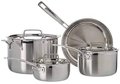 Cuisinart MultiClad Pro Stainless-Steel Cookware 7-Piece Cookware Set (Silver) - CU - MCP - 7N