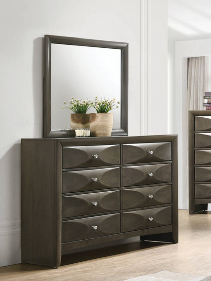 Salano Queen 2-Drawer Storage Bed Mod Grey And Bronze 4PC Set - SET4PC215881Q