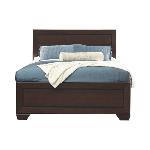 Kauffman Queen Panel Bed Dark Cocoa 4PC Set - SET4PC204391Q