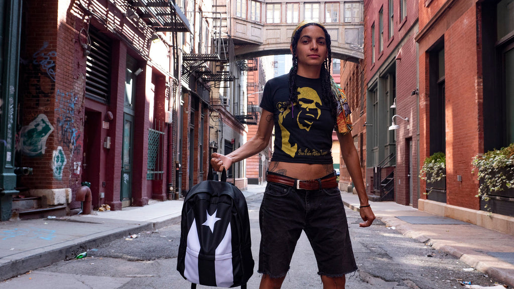 Black Puerto Rican Flag Backpack | Tienda Boriken