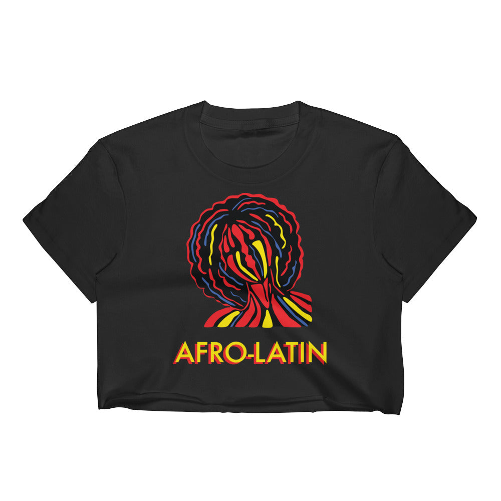 Afro-Latin Raw Edge Crop Top | Tienda Boriken