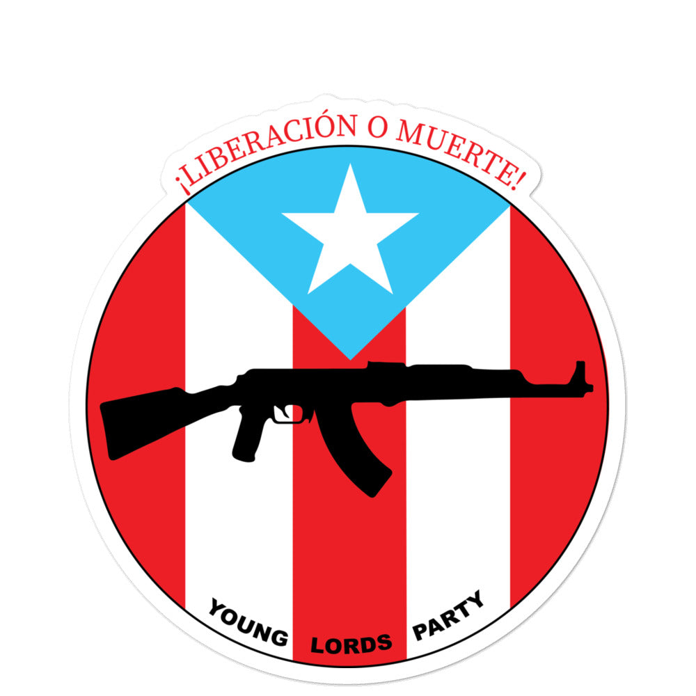 "Young Lords Party ""¡Liberación O Muerte!"" Bubble-free stickers 