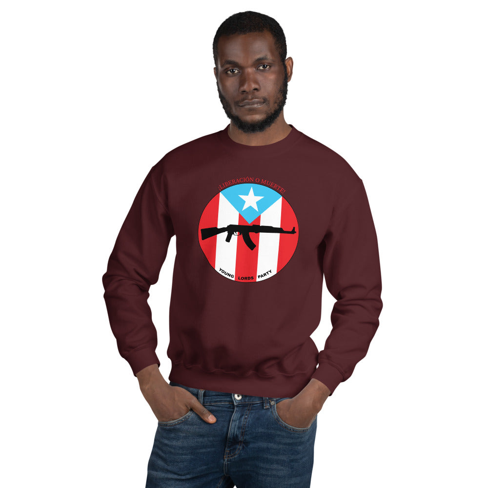 "Young Lords Party ""¡Liberación o Muerte!"" Unisex Sweatshirt"