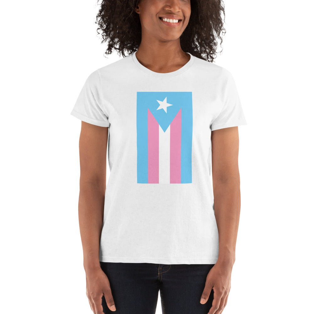 Transgender Boricua Flag Women's T-shirt