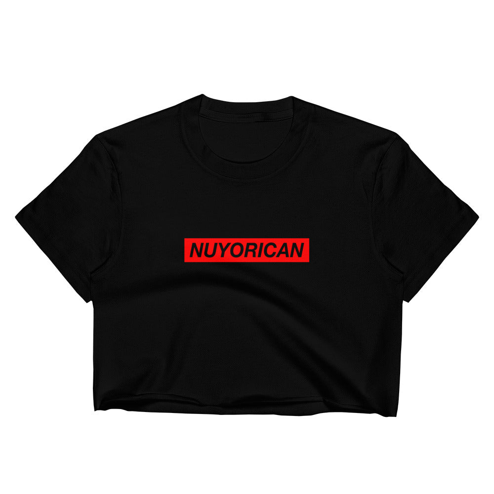 Nuyorican Raw Edge Crop Top